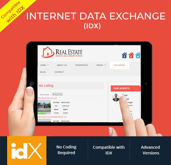wordpress real estate theme idx compatible