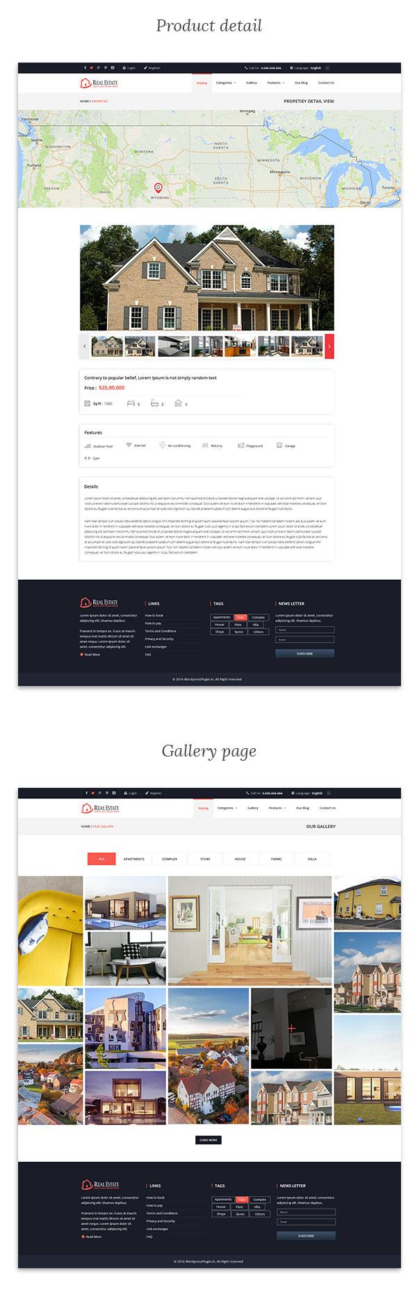 Real Estate Wordpress Theme - 4